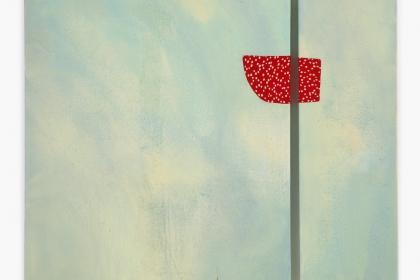 Gudrun Klebeck, Flugbild Blau Rot, 2003