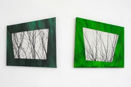 Gudrun Klebeck, View from the Dark III, Green Window,, 2013