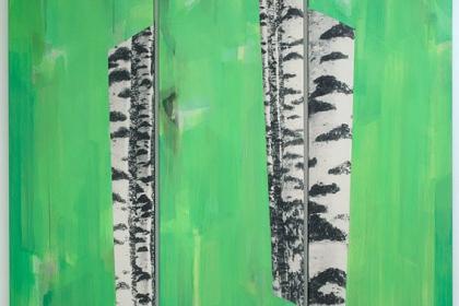 Gudrun Klebeck, Birch Trees VII, 2010
