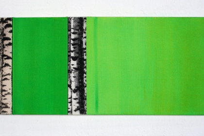 Gudrun Klebeck, Birch Trees III, 2010