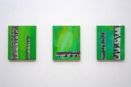 Gudrun Klebeck, Birch Trees VIII - X, 2011