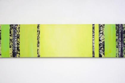 Gudrun Klebeck, Birch Trees Yellow Green, 2014
