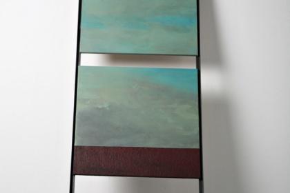 Gudrun Klebeck, Small Laddeer Blue Green, 2004