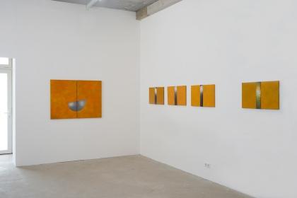 Gudrun Klebeck, Orange, Ausstellungsdetail 2017
