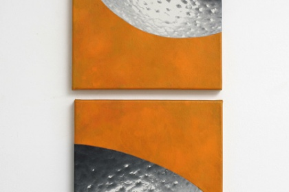 Gudrun Klebeck, Orange X, 2014