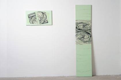 Gudrun Klebeck, Wirbel Grün I, IV, 2016